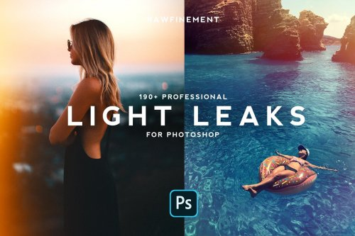 CreativeMarket - 190+ Retro Analog Light Leaks Bundle 4691496