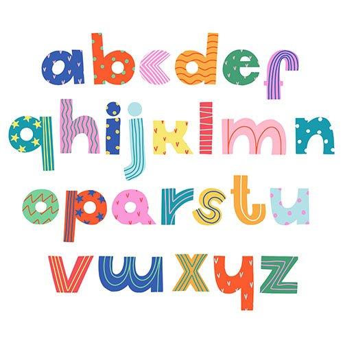 Handwritten trendy Vector alphabet