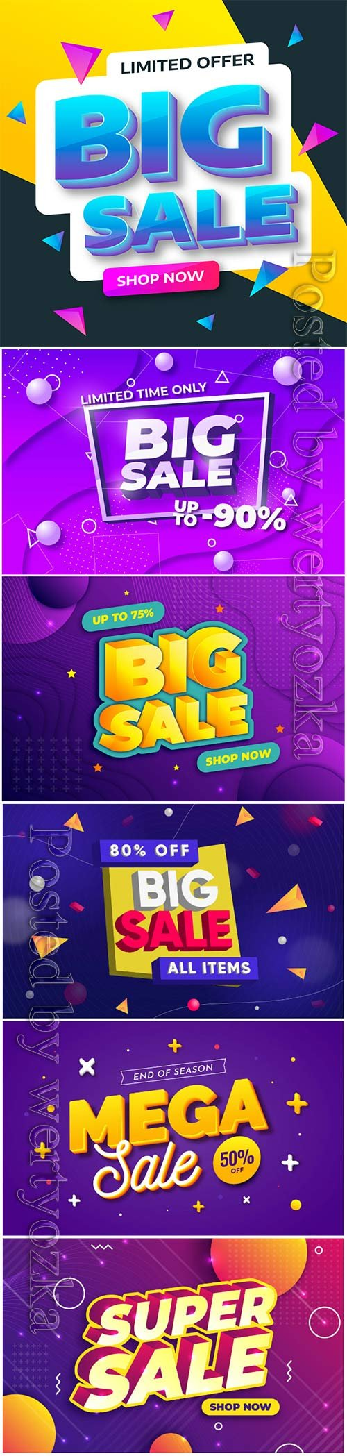 Colorful 3d sales vector background # 6