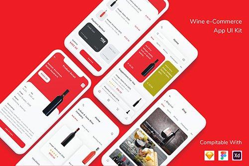 Wine e-Commerce App UI Kit