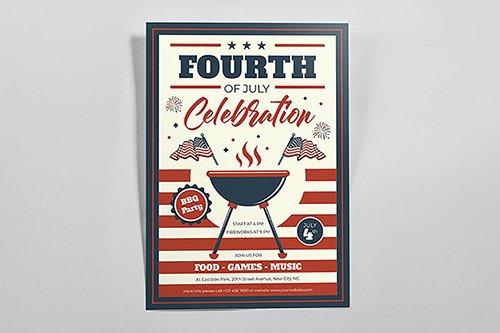 BBQ Celebration Fourth of July Flyers