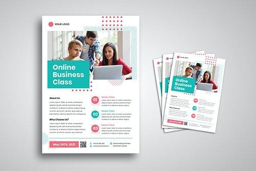 Online Business Class Flyer