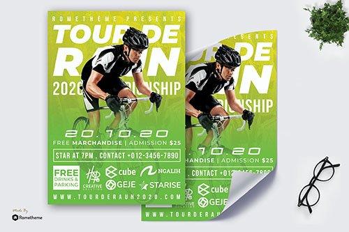Tour de Raun Flyer - Race PSD Poster RB