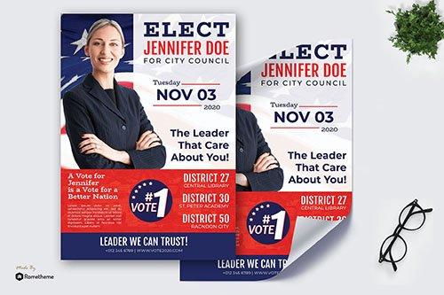 Election Jennifer Doe - Political PSD Poster RB