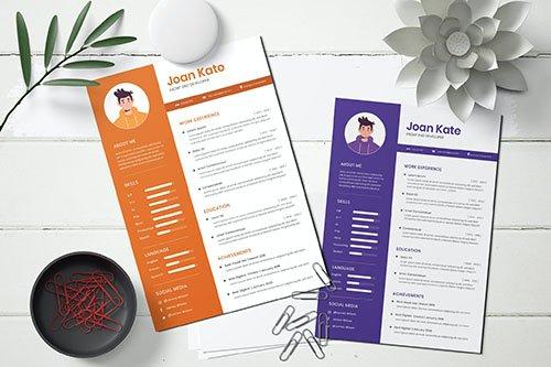 Resume CV Vector Template