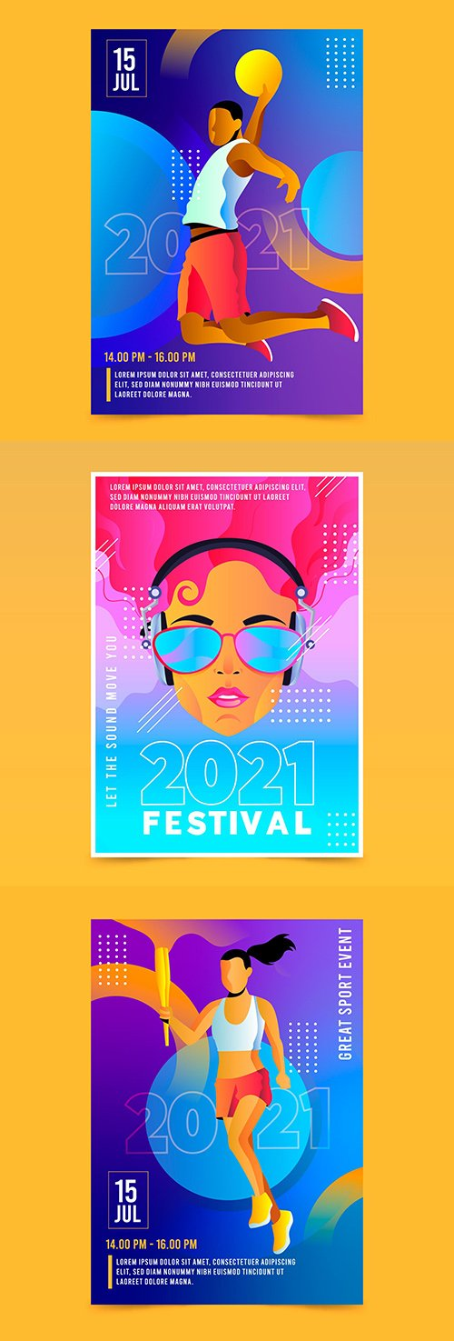 Poster of sports and musical event of 2021