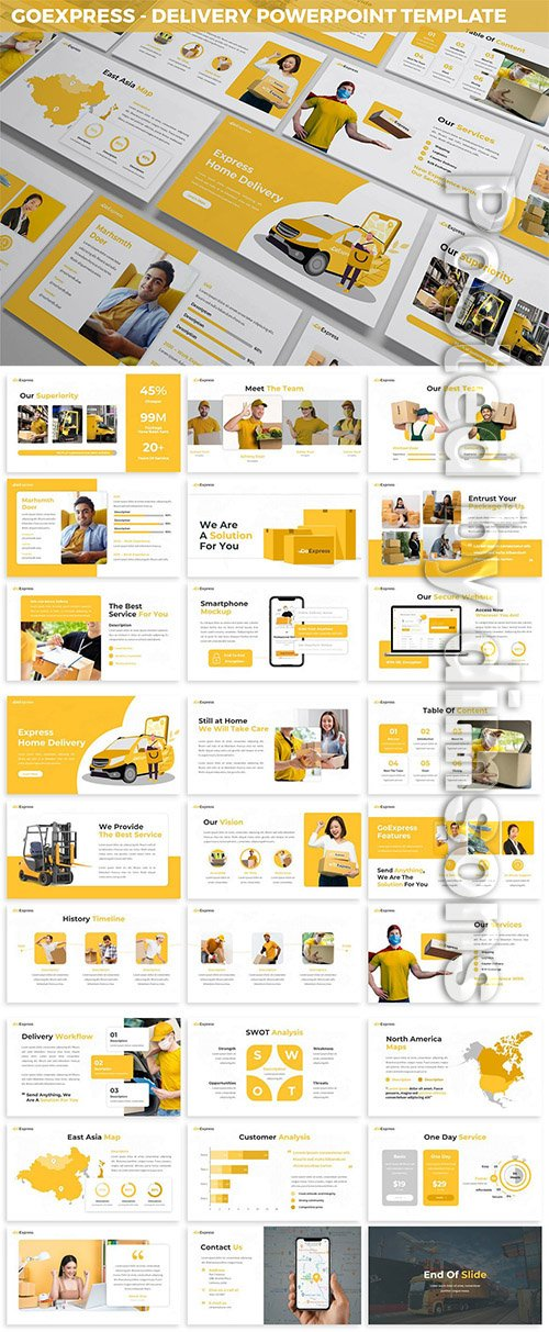 GoExpress - Delivery Powerpoint Template