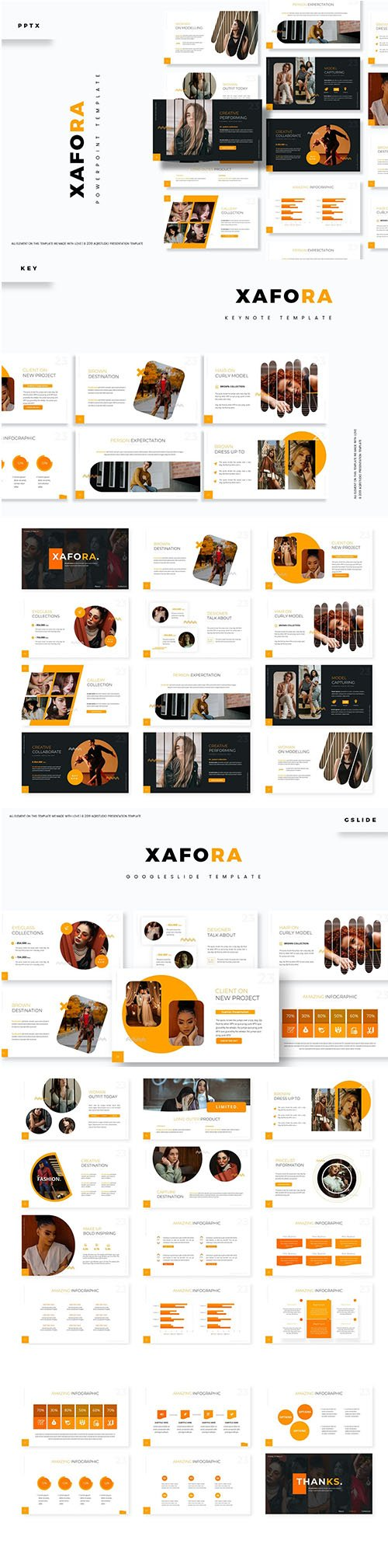 Xafora Powerpoint, Keynote and Google Slide Template