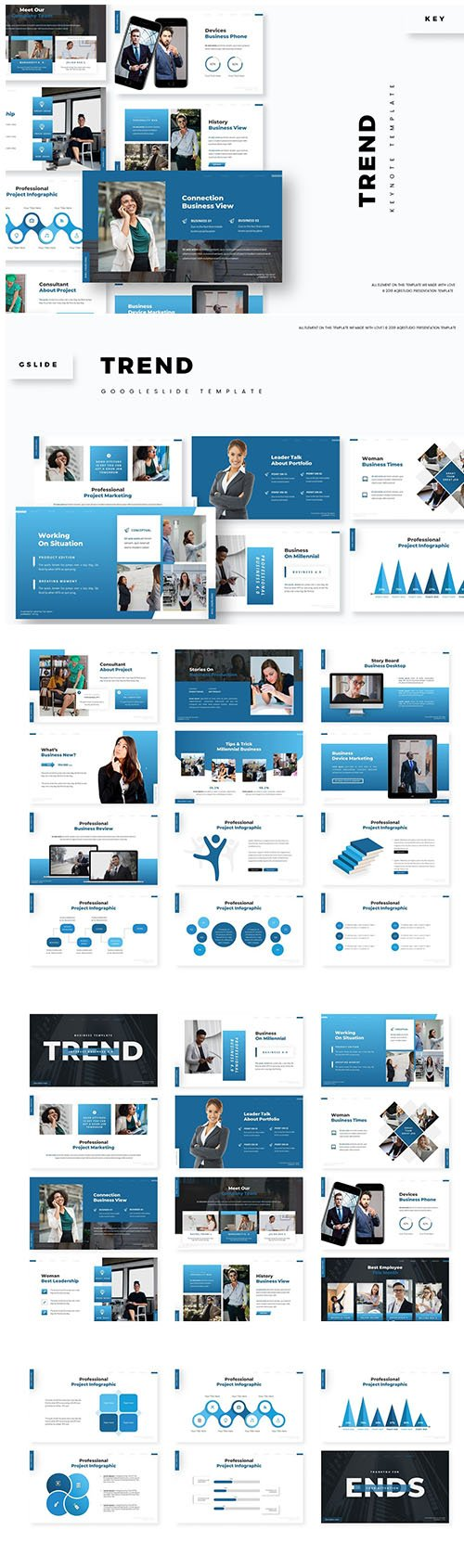Trend Keynote and Google Slide Template