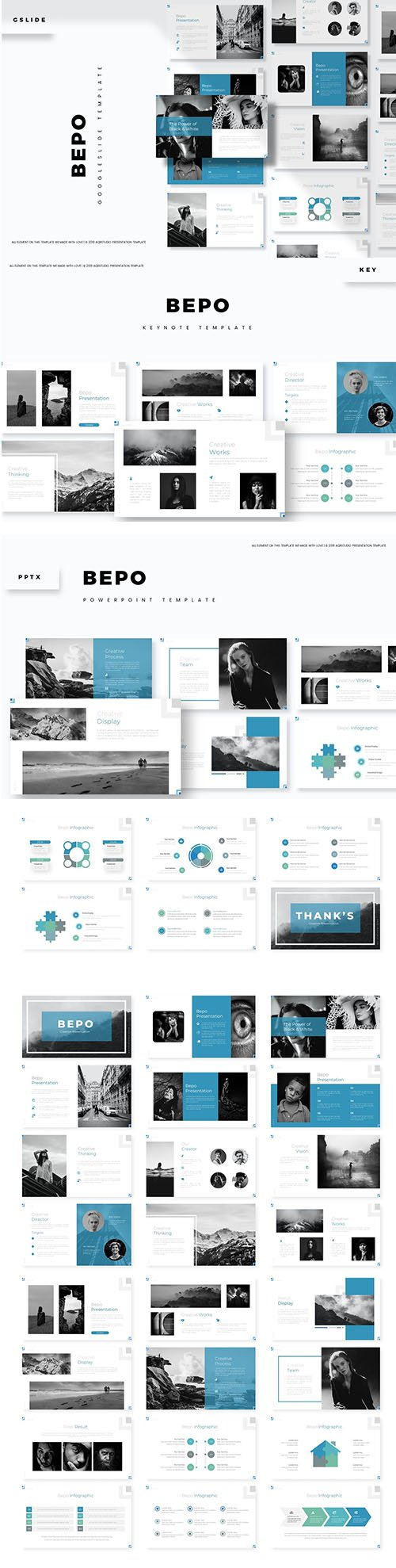 Bepo Powerpoint, Keynote and Google Slide Template