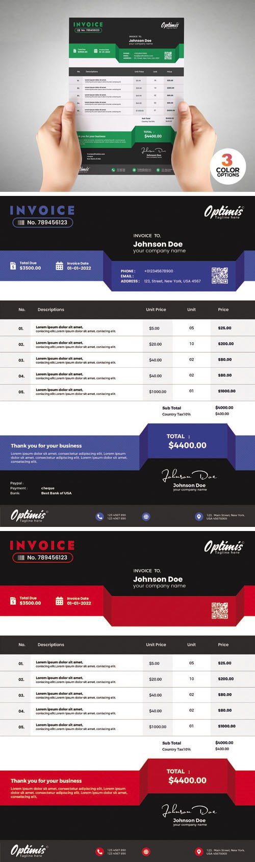 Payment Invoice PSD Template
