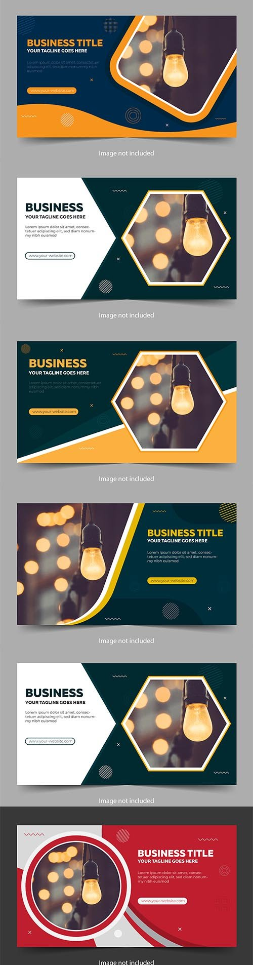 Abstract Banner with Abstract Vector Elements