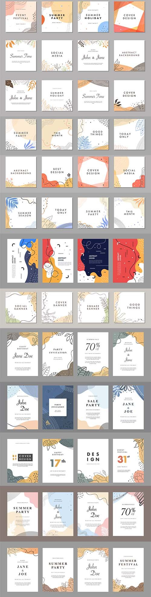 Bundle of Creative Universal Cover Vector Templates
