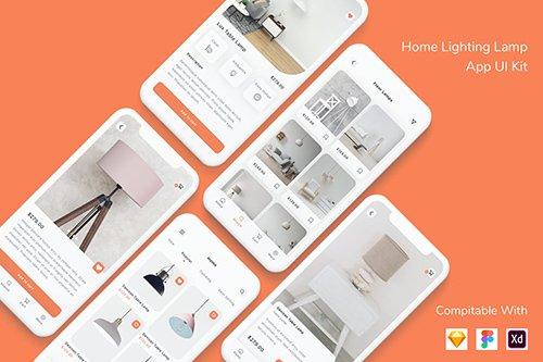 Home Lighting Lamp App UI Kit