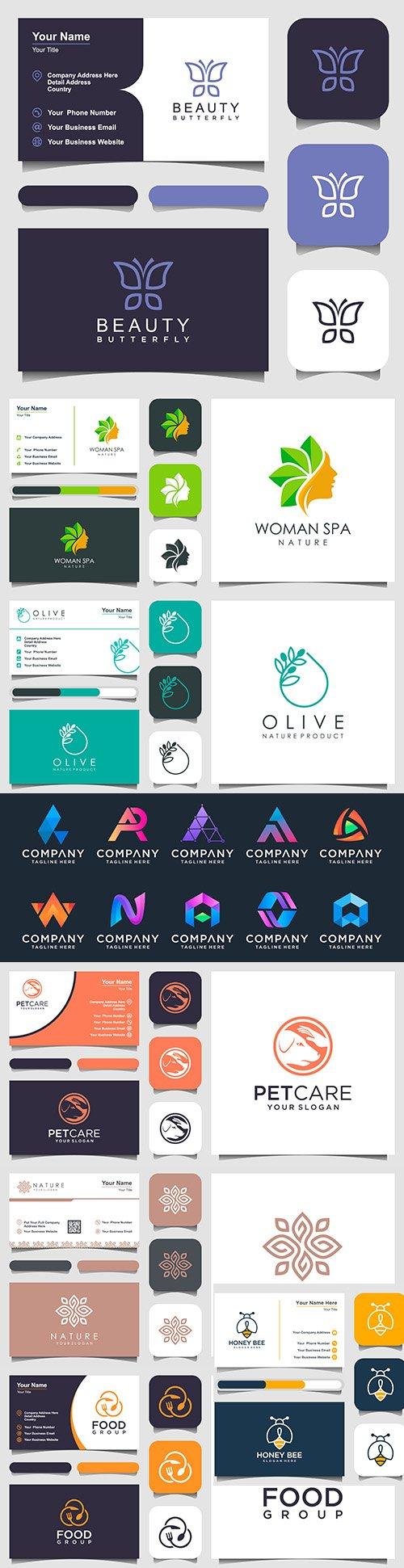 Minimalist elegant logo and business card design 5