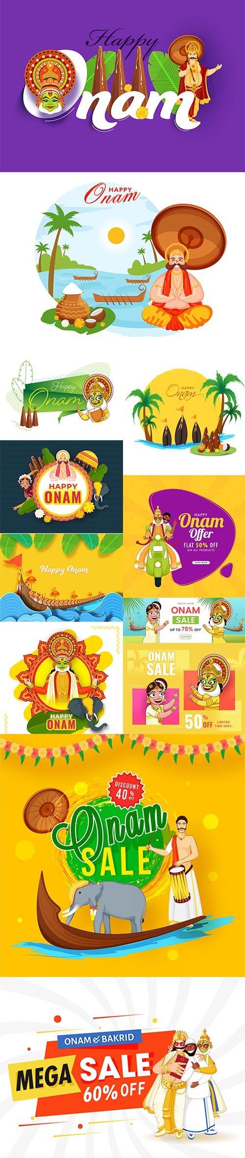 Happy Onam Concept Illustration