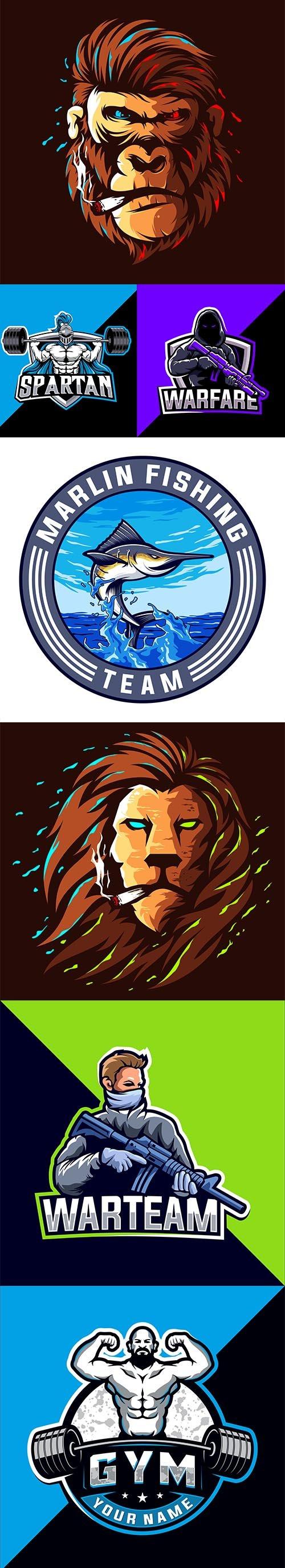 7 Mascot Esport Logo Design
