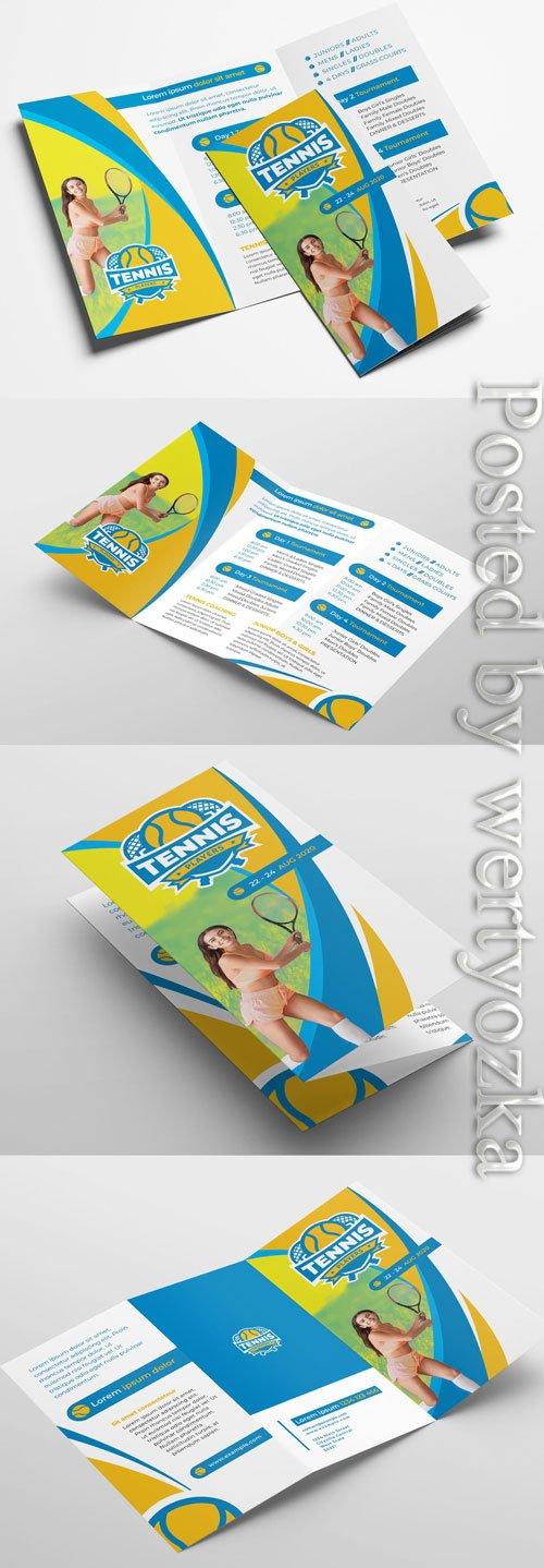 Tennis Club Trifold Brochure Layout