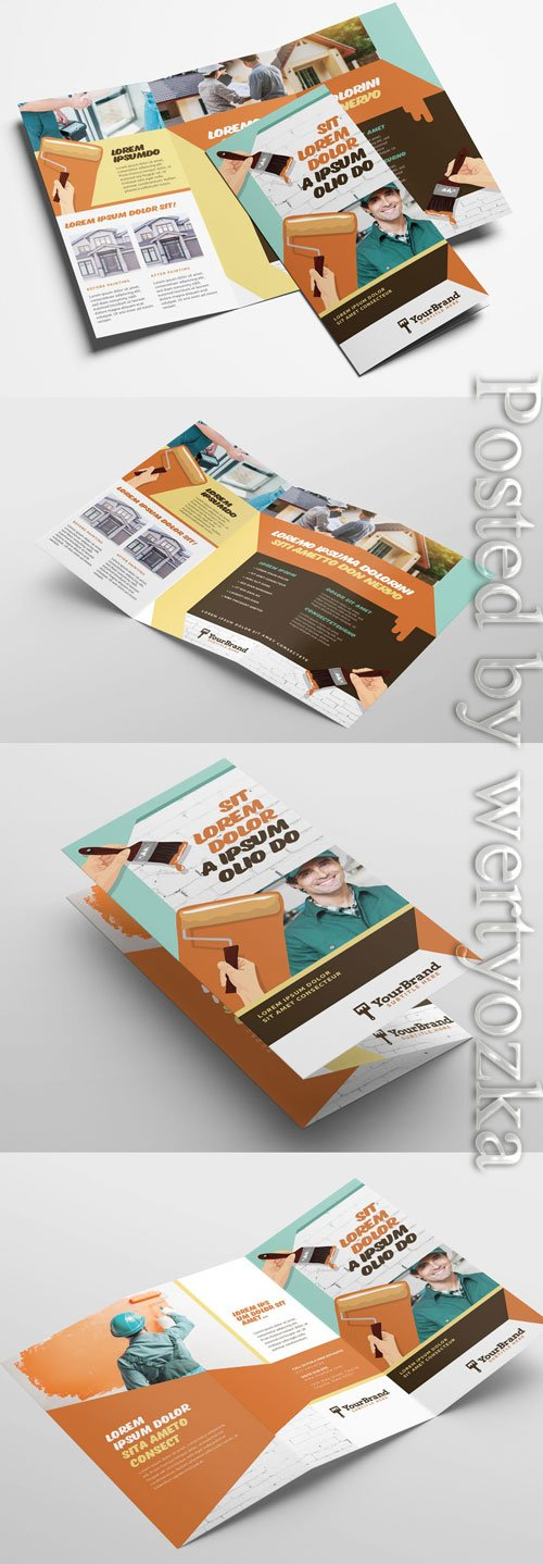 Painting Service Trifold Brochure Layout