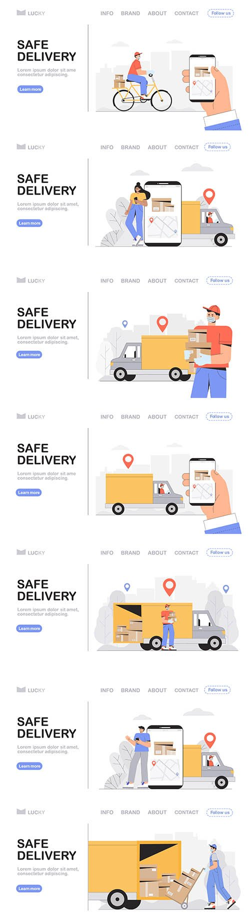 Safe Delivery Courier Service Concept