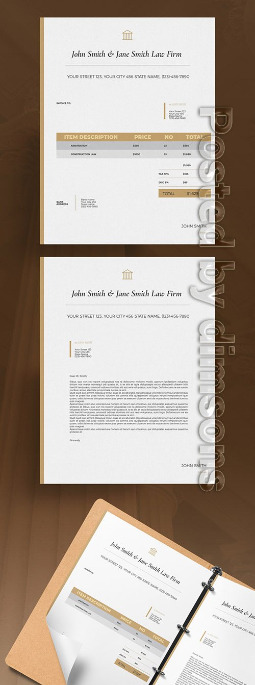 Law Invoice Layout 327886876