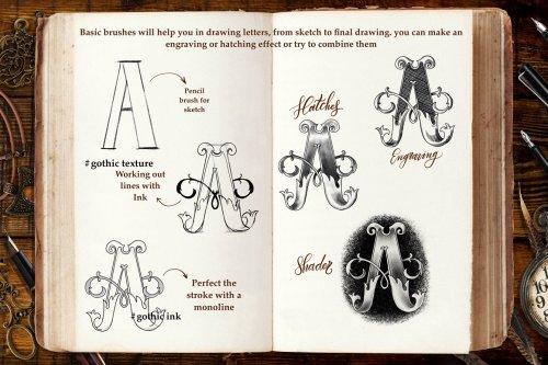 CreativeMarket - Victorian Lettering Creator Kit 4788869