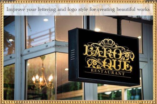 CreativeMarket - Baroque Lettering Creator Kit 4185029