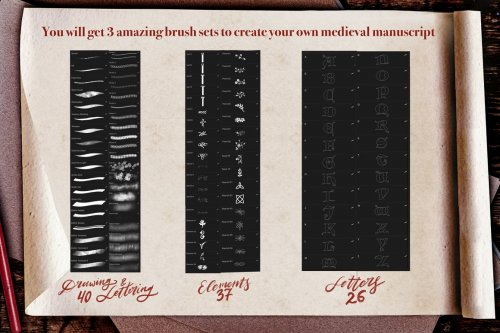 CreativeMarket - Medieval Manuscript Creator Kit 4674206