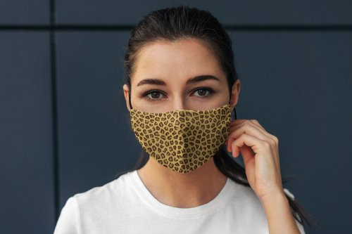 CreativeMarket - Face Mask MockUp Lifestyle 5010903