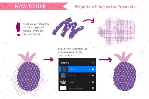CreativeMarket - 80 hand-drawn patterns for Procreate 5091208