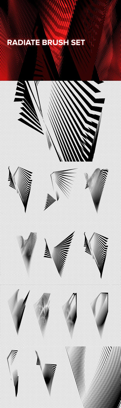 Radiate Brush Set for Photoshop