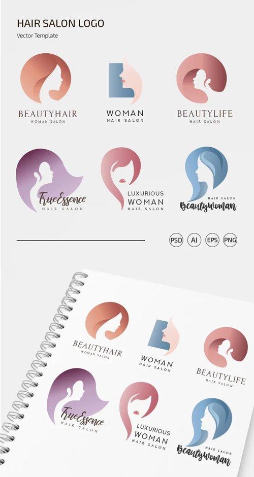 Hair Salon Logo Vector Templates