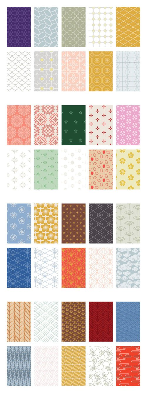80+ Genuine & Authentic Asian Patterns for Photoshop