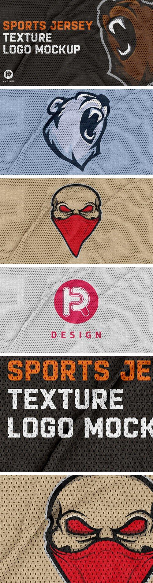 Jersey Texture Logo PSD Mockup