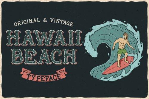 GraphicRiver - Hawaii Beach. Font & T-shirts 24658585