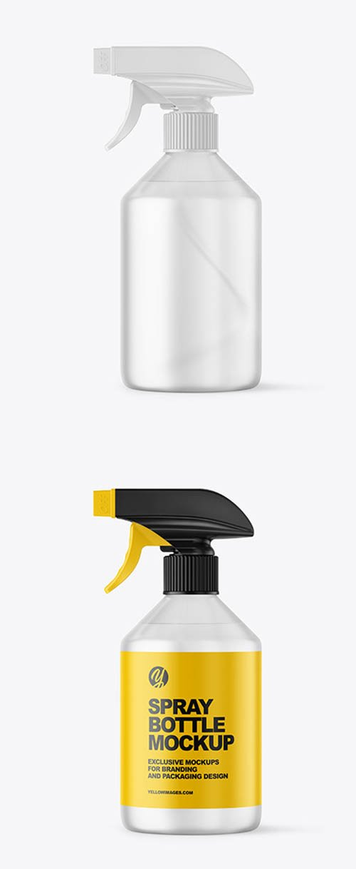 Frosted Spray Bottle Mockup 59223