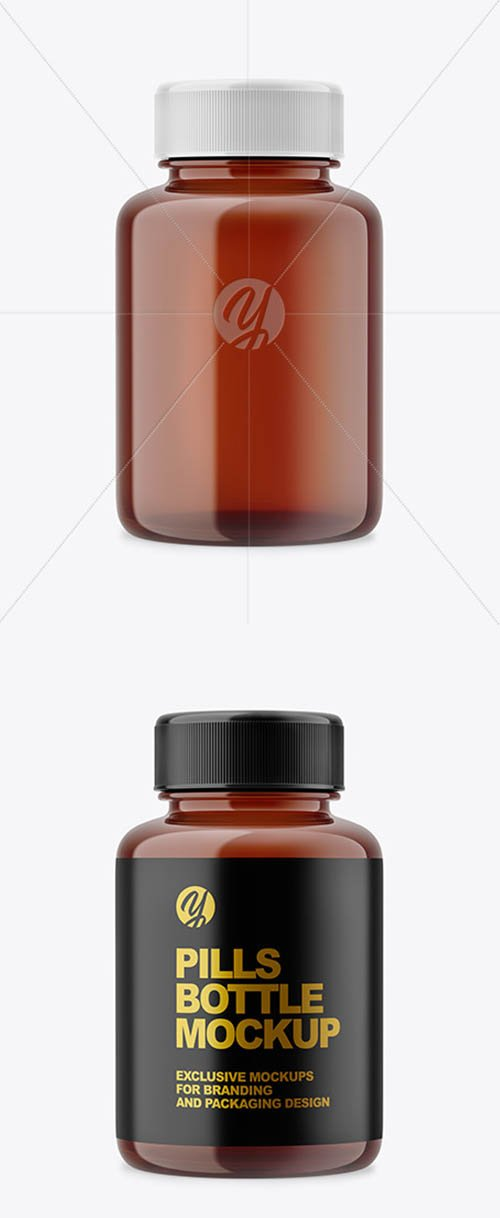 Amber Pills Bottle Mockup 61075