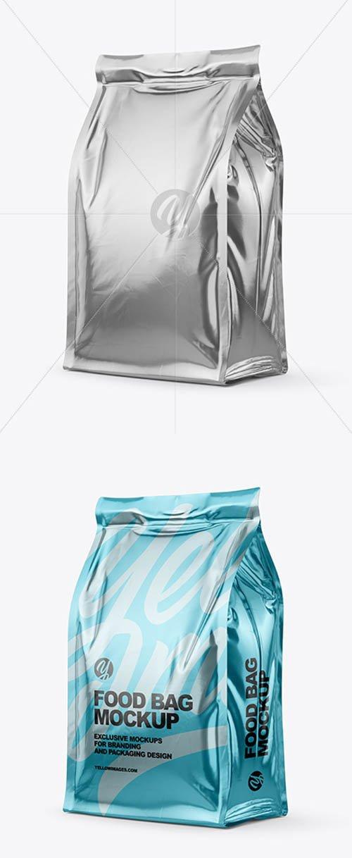 Glossy Metallic Food Bag Mockup 61244