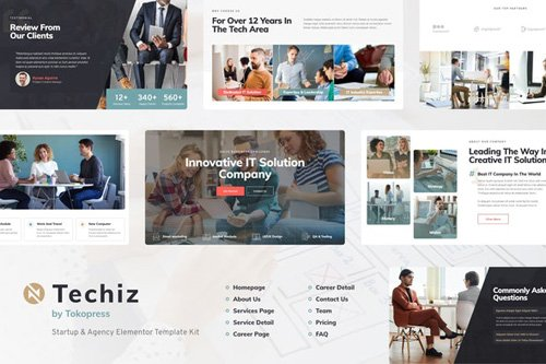 ThemeForest - Techiz v1.0 - Business & Startup Elementor Template Kit - 27509981