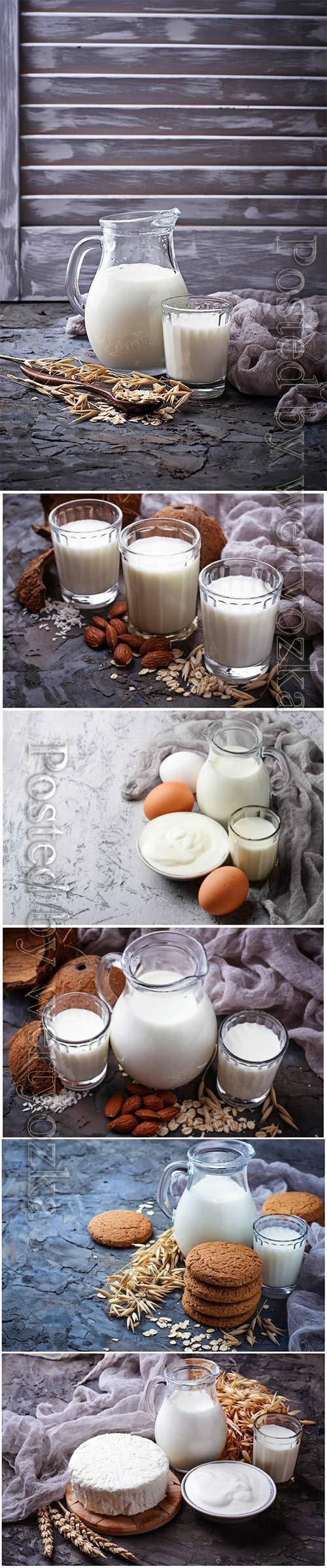 Milk, sour cream and eggs