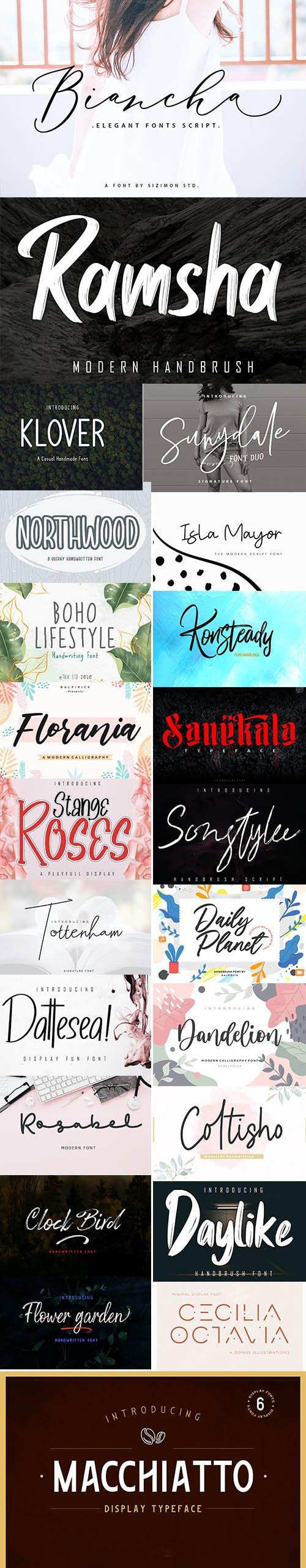 23 Creative Fonts Pack June 2020