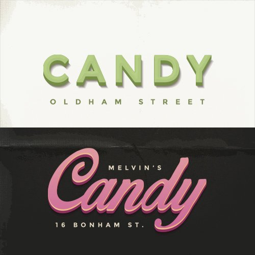 Candy 3D Text Effect for Photoshop