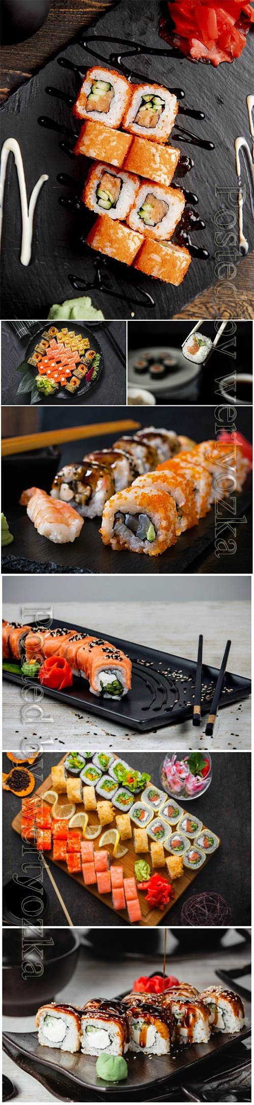 Delicious beautiful sushi