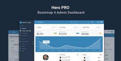 ThemeForest - Hero PRO v1.1.0 - Bootstrap 4 Admin Dashboard Theme - 21525206