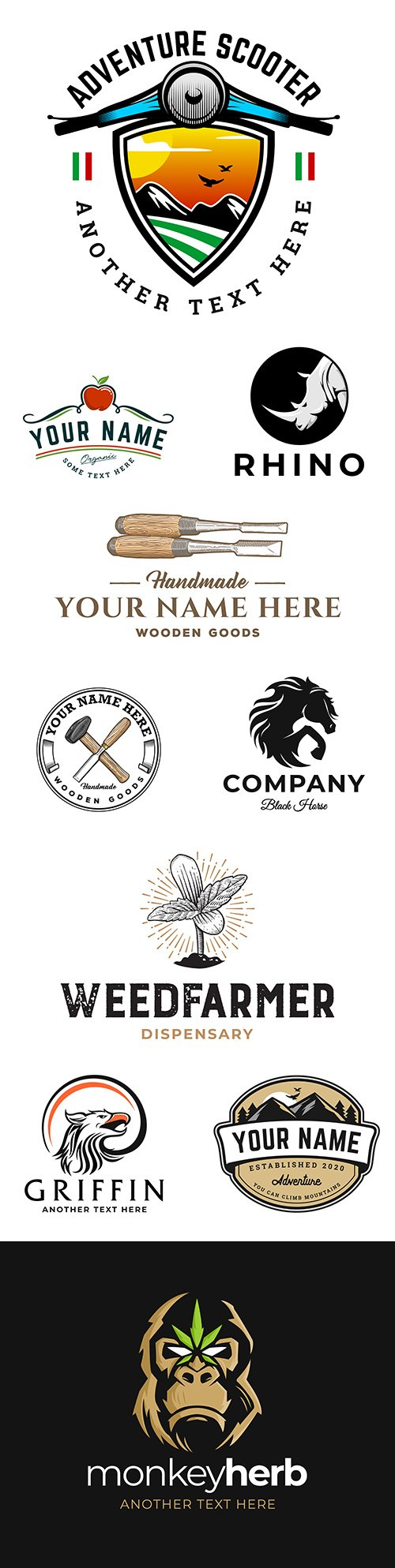 Brand name company logos business corporate design 15