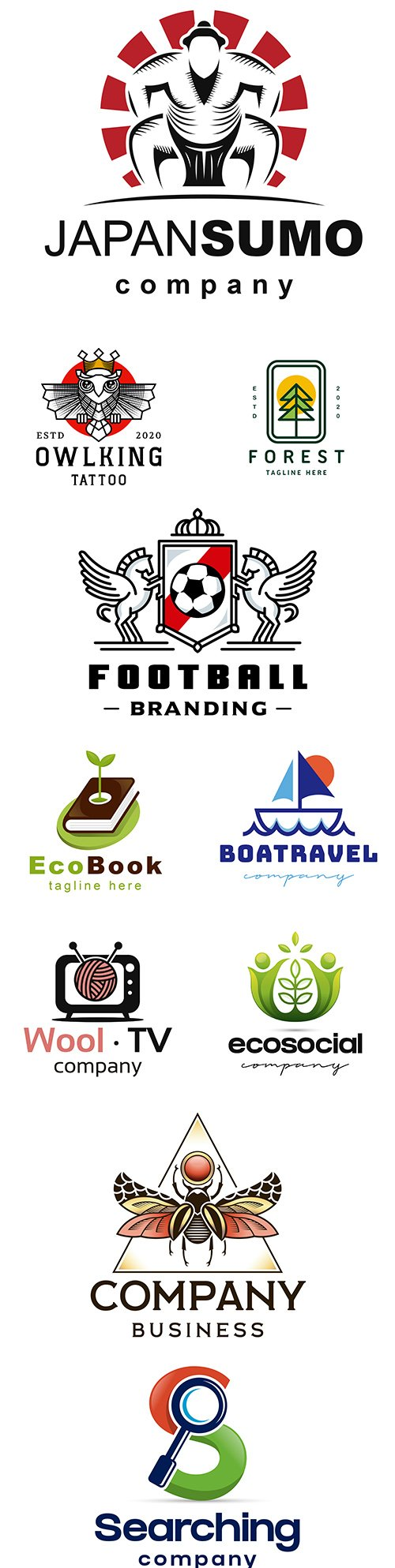 Brand name company logos business corporate design 16