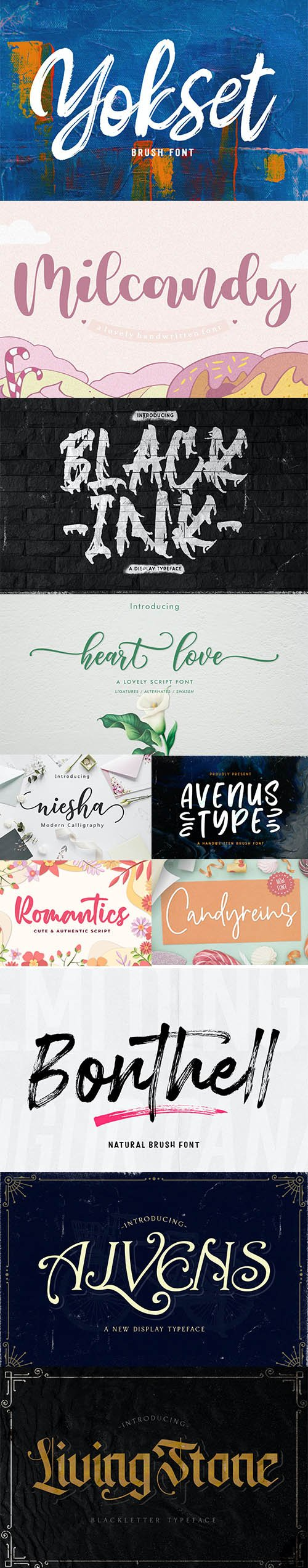 11 Modern Fonts Set Vol 2