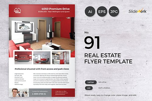 Real Estate Flyer Template 91 - Slidewerk