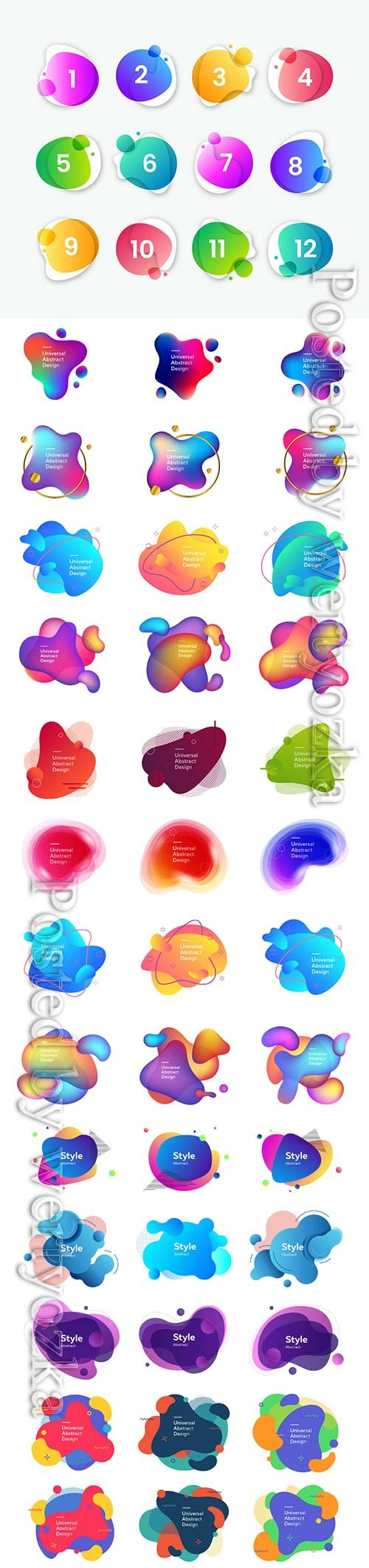 Abstract fluid modern vector elements