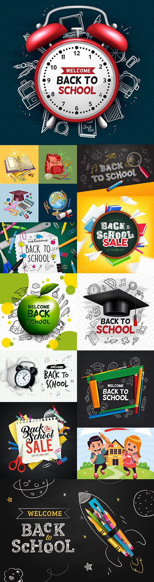 Back to school and accessories collection illustration 40